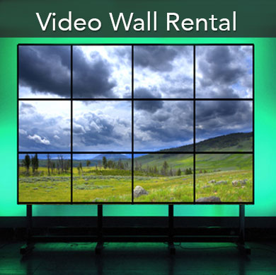 Video walls and jumbotron rentals